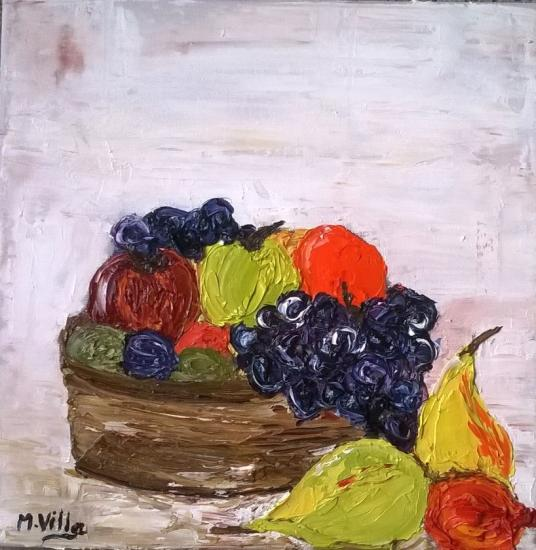 panier de fruits (raisins rouges)  30x30